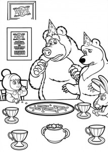coloring page Mascha and bear (5)