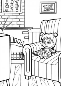 coloring page Mascha and bear (6)