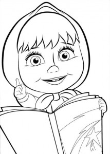 coloring page Mascha and bear (7)