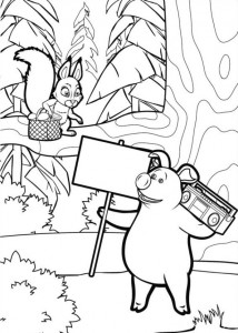coloring page Mascha and bear (8)