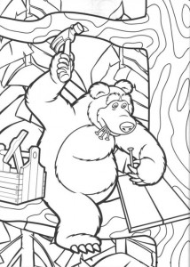 coloring page Mascha and bear (9)
