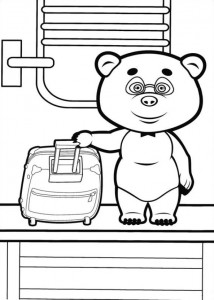 coloring page Mascha and bear