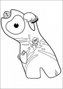 mascot coloring page