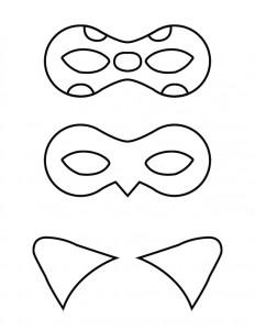 kleurplaat Masks