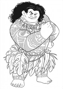 coloring page maui 4