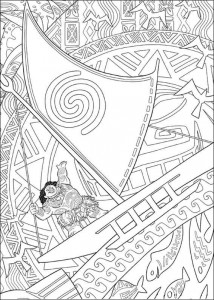 coloring page maui master of the ocean