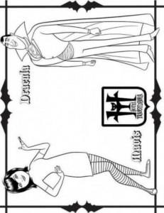 kleurplaat Mavis Dracula