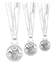 coloring page medals