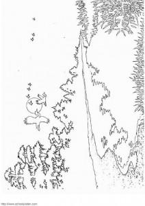 målarbok Sjö och skog