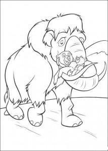 målarbok Rider med en mammut