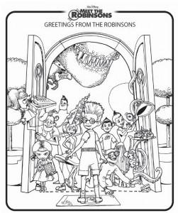 målarbok Meet the Robinsons (6)