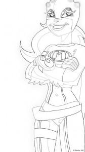 Malvorlage Mega Mindy (1)