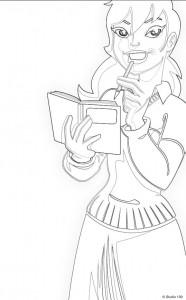 Disegno da colorare Mega Mindy (16)
