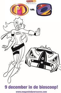 kleurplaat Mega Mindy versus Rox