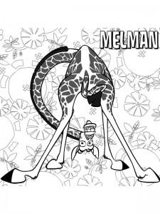 kleurplaat Melman