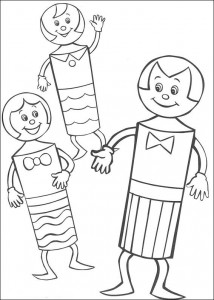kleurplaat Meneer kegel en de kegel kids