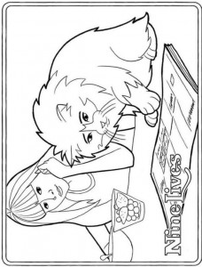 coloring page Mr. Pluizenbol (2)