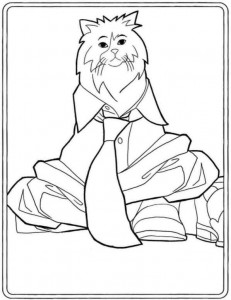 coloring page Mr. Pluizenbol