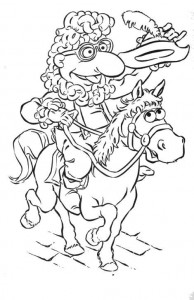 kleurplaat Meneer Poodlepants als Yankee Doodle