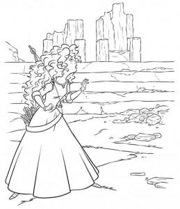 coloring page Merida 3