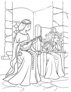 coloring Merida and mother