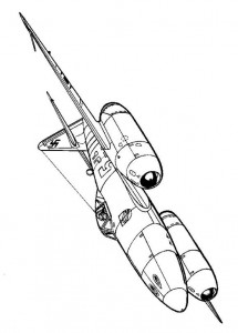coloring page Messerschmitt 1945
