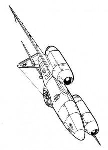 kleurplaat Messerschmitt 1945