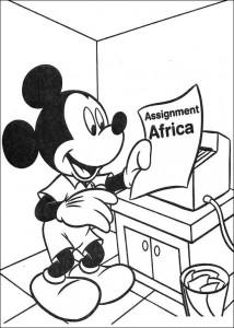 målarbok Mickey's uppdrag