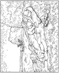 coloring page Midday Rest 1890