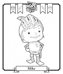 coloring picture Mike