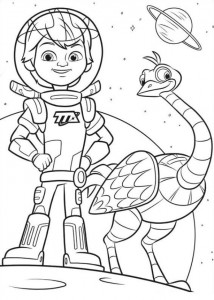 coloring page Miles of Tomorrow