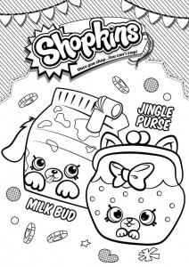 coloring page milk bud jungle purse