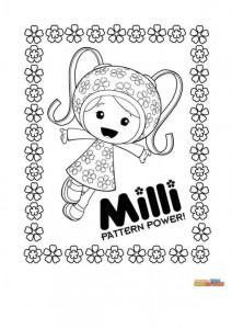kleurplaat Milli