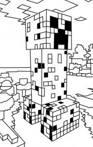 kleurplaat Minecraft (1)