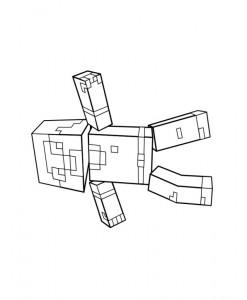 målarbok Minecraft (11)