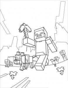 kleurplaat Minecraft (14)