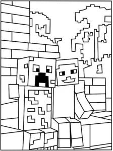 kleurplaat Minecraft (15)
