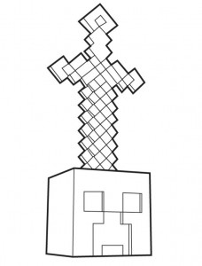 coloring page Minecraft (2)