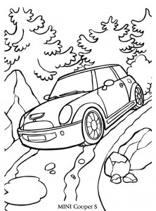 coloriage mini cooper s