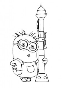coloring page minions 02