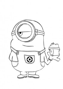 coloring page minions 03