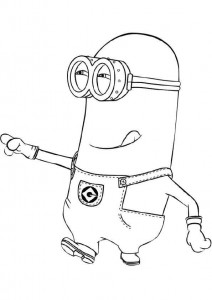 coloring page minions 04