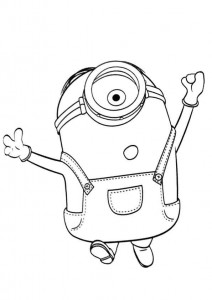 coloring page minions 06