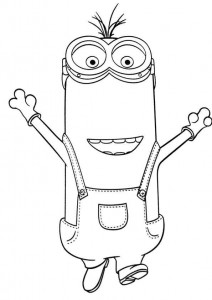 coloring page minions 07