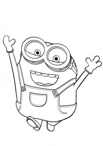 coloring page minions 08