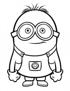 coloring page minions 10