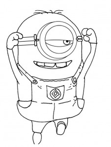 coloring page minions 12