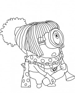coloring page minions 13
