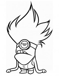 coloring page minions 14