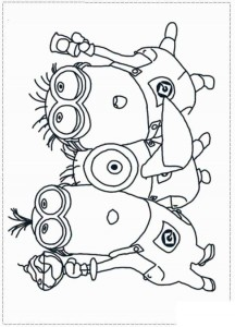 coloring page minions 15